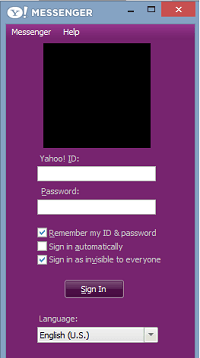 eroare yahoo messenger pe windows 8.1