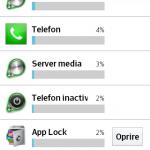 consum baterie aplicatie AppLock