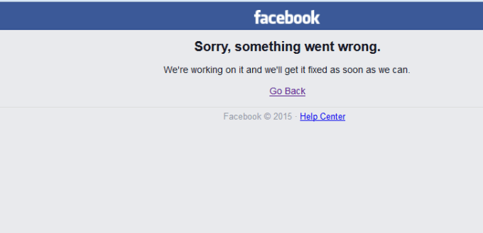 Facebook Are Probleme In Continuare