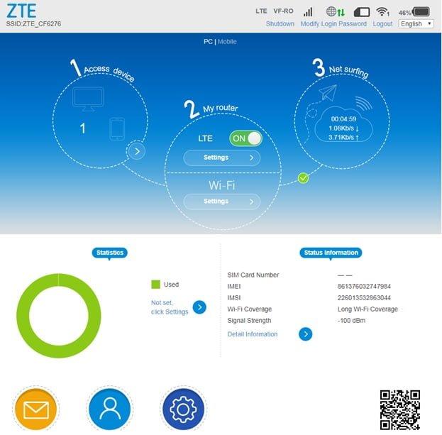 Noul router wireless portabil ZTE MF920V 4G oferit de catre Digi (RCS & RDS)