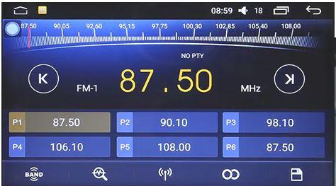 Navigatorul auto universal J 2818N - radio
