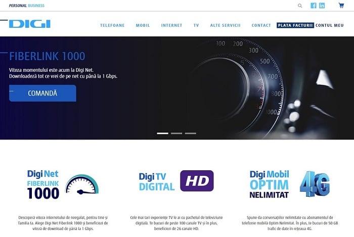 RCS - RDS (Digi) lanseaza noul site oficial DigiRomania.ro