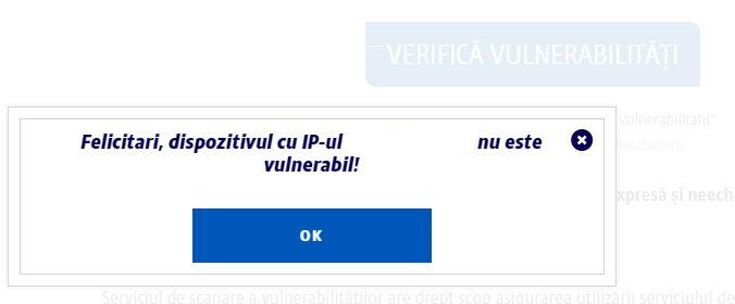 Securitatea internetului - verificare vulnerabilitati pe site-ul Digi1